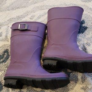 Purple kamik rain boots